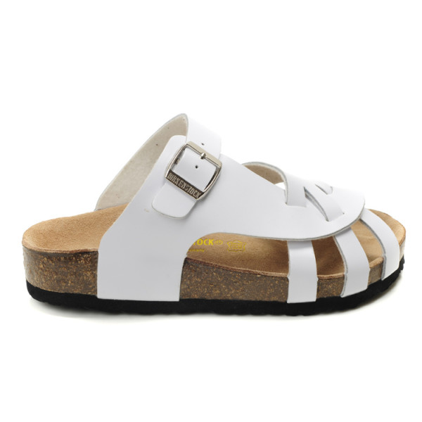 Birkenstock Pisa Sandals, White Leather
