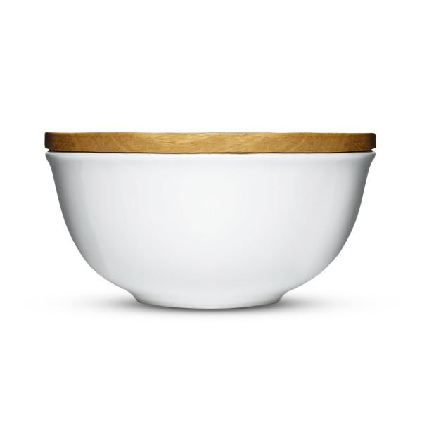 Sagaform Stoneware Keep Bowl with Oak Lid, Large