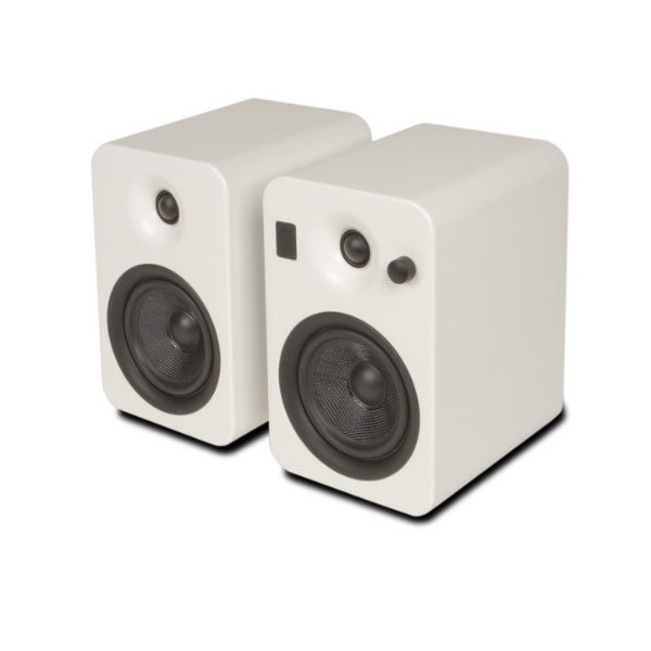 Kanto YUMIWHT Powered Bookshelf Speakers with Bluetooth Technology (White Matte)