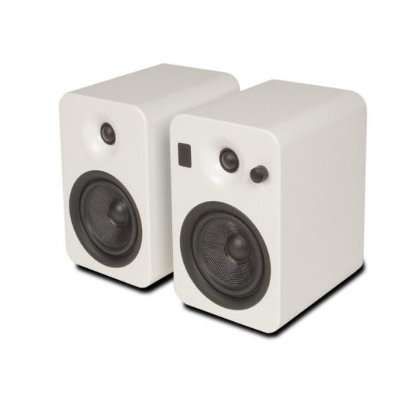Kanto YUMIWHT Powered Bookshelf Speakers with Bluetooth Technology (White Matte)
