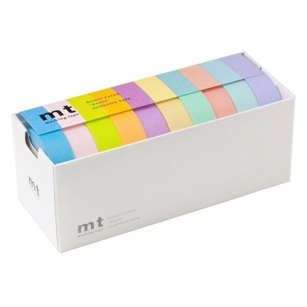 MT Washi Masking Tapes Set of 10, Bright Colors