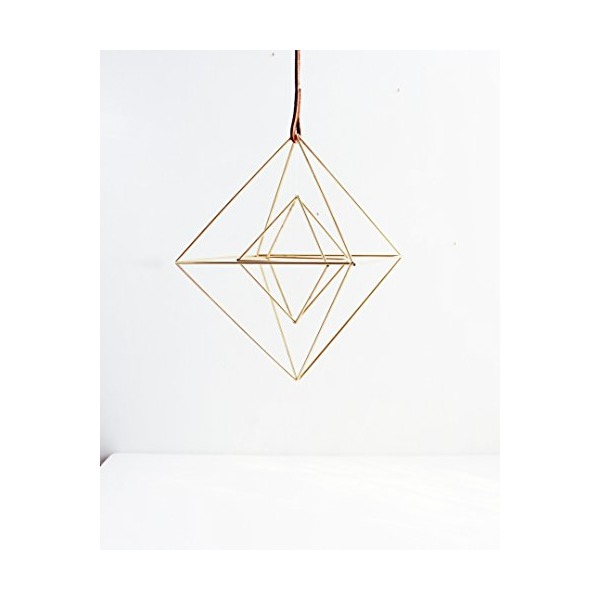 The Double Diamonds | Brass Himmeli Mobile