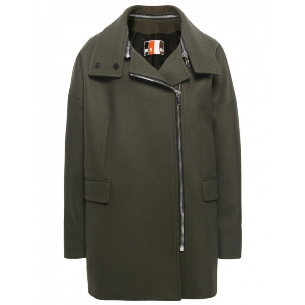MSGM Women's Zip Collar Coat