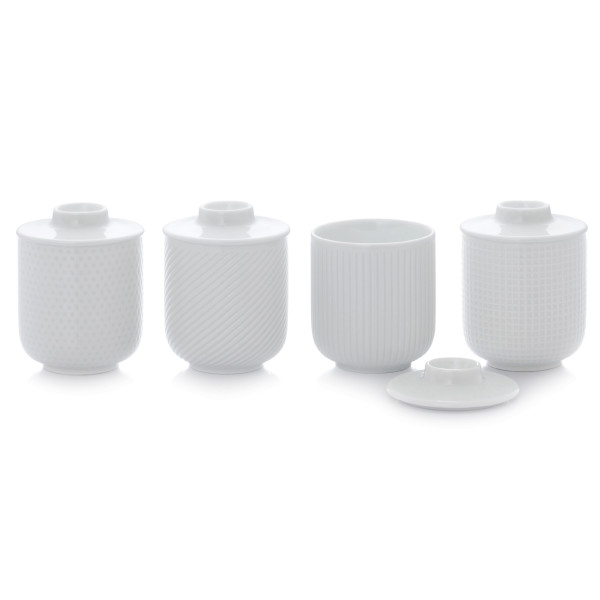 JIA Inc Persona Teacups, Set of 4