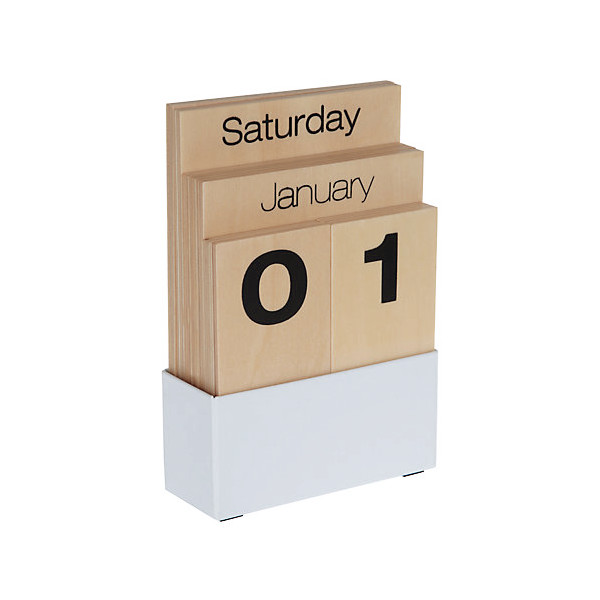 Contemporary Wooden Shuffle Perpetual Calendar for Home or Office