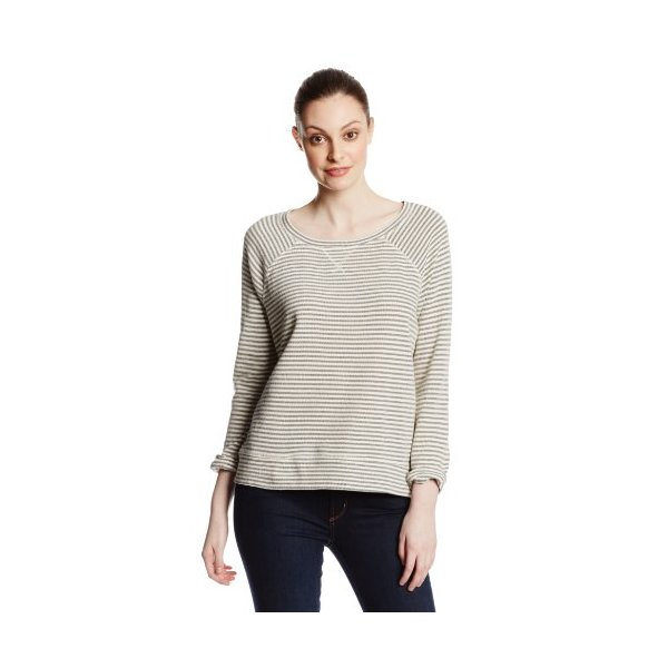 Joie Women's Emma Striped Sweatshirt, Dark Heather, X-Small