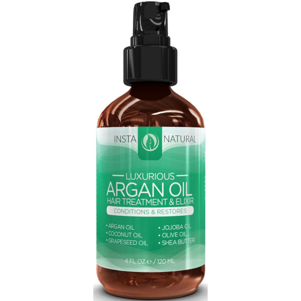 InstaNatural Argan Oil Hair Treatment - Leave in Conditioner with Organic Argan Oil, Jojoba Oil, Coconut Oil, Olive Oil and Shea Butter - Best Hair Care Conditioning Oil - 4 oz