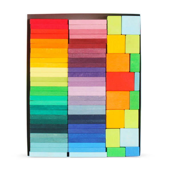Grimm's Color Charts Rally Building Blocks Set, 72 pcs