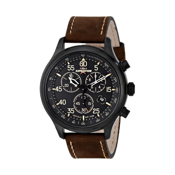 "Timex Men's T49905 ""Expedition"" Rugged Field Watch with Brown Leather Band"