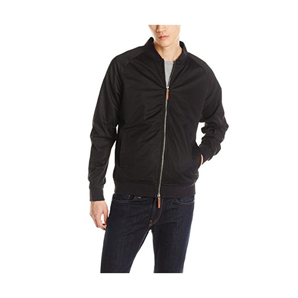 Zanerobe Men's Dugout Bomber, Black, Large