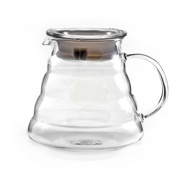 Hiware 600ml Coffee Server, Standard Glass Coffee Carafe, Coffee Pot, Clear