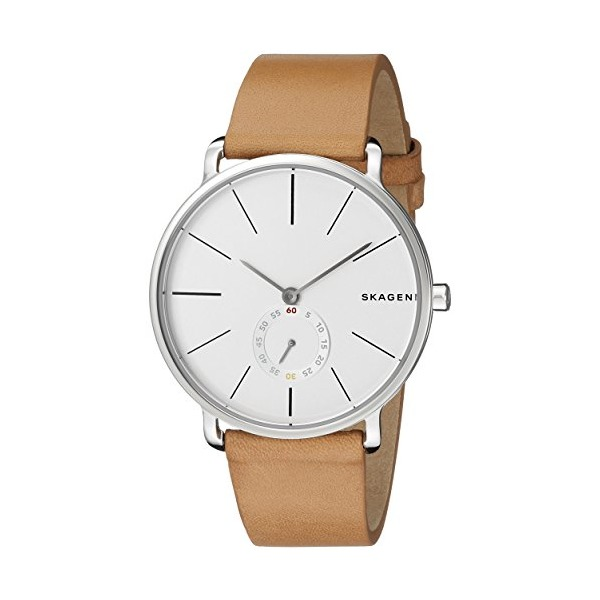 Skagen Men's SKW6215 Hagen Stainless Steel Watch with Leather Band