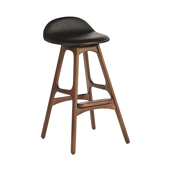 AEON Furniture Torbin-1 Counter Stools in Walnut and Black