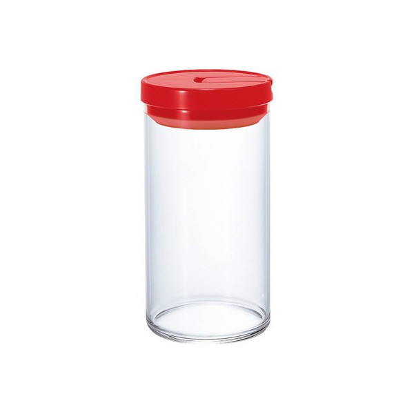 HARIO Coffee Glass Canister, 1000ml, Red
