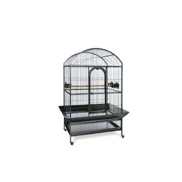 Prevue Pet Products Large Dometop Bird Cage 3163BLK, Black Hammertone