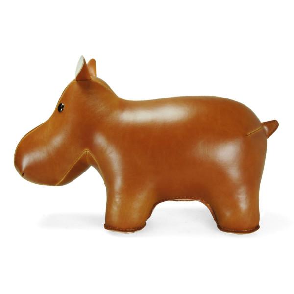 Zuny Classic Series Hippo Tan Animal Bookend