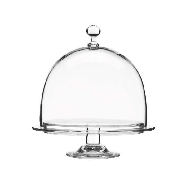 Luigi Bormioli Crescendo Footed Cake Platter with Dome, Clear by Luigi Bormioli