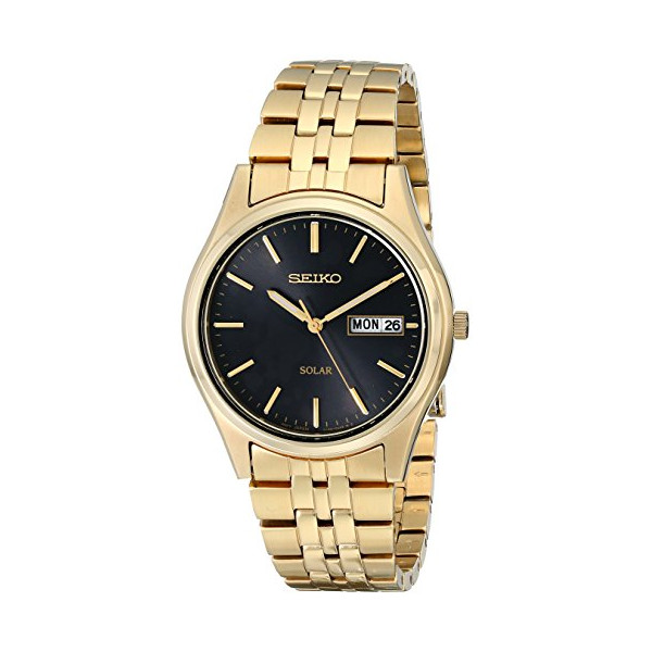 Seiko Men's SNE044 Gold-Tone Stainless Steel Solar Watch