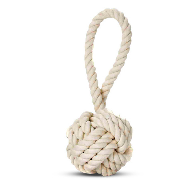 Multipet Nuts for Knots Heavy Duty Rope Dog Toy with Tug, Medium