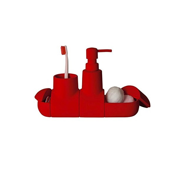 SELETTI kit bathroom SUBMARINO Red