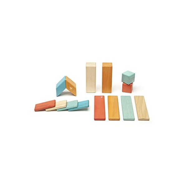 14 Piece Tegu Magnetic Wooden Block Set, Sunset