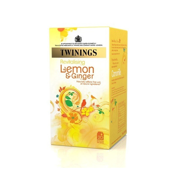 Twinings, All Natural Revitalizing Lemon & Ginger Tea