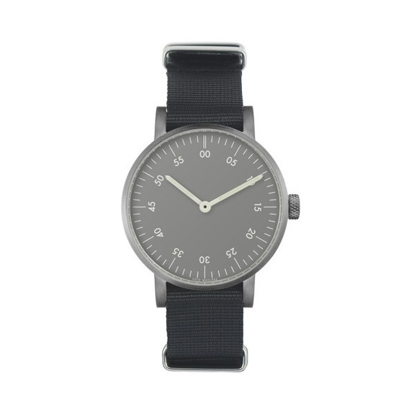 Void V03B Brushed Analog Grey Watch w/ Black NATO Strap