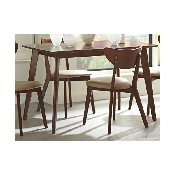 Coaster Furniture 103061 Kersey Casual Dining Table Chestnut Finish
