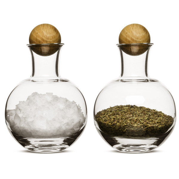 Sagaform Spice/Herb Storage Bottles with Oak Stoppers