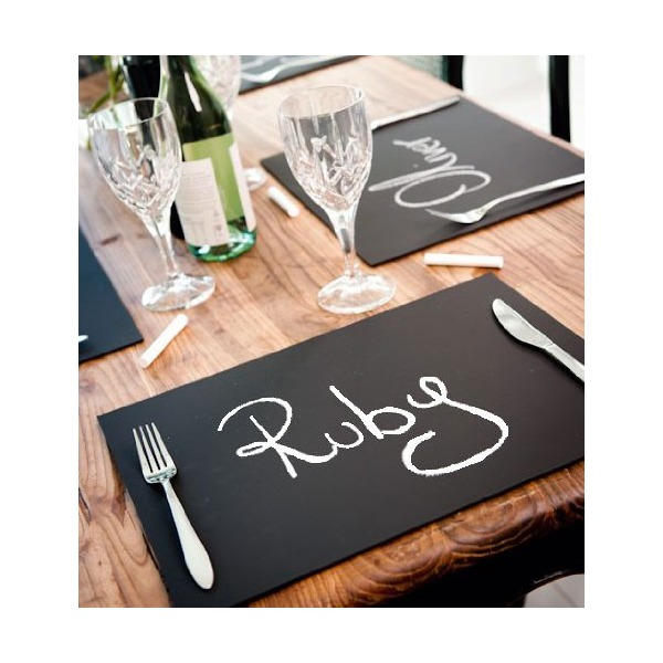 Chalkboard Place Mats set of 6 - Ideal for Dining Entertainment