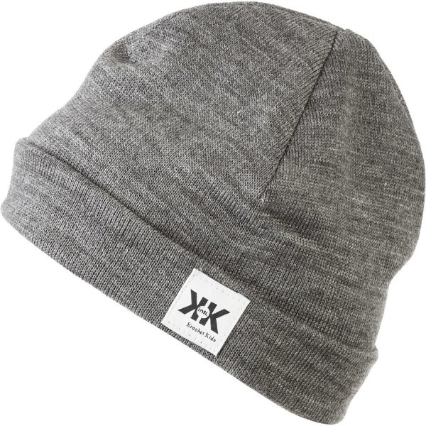 Krochet Kids intl. Helm Beanie Grey, One Size