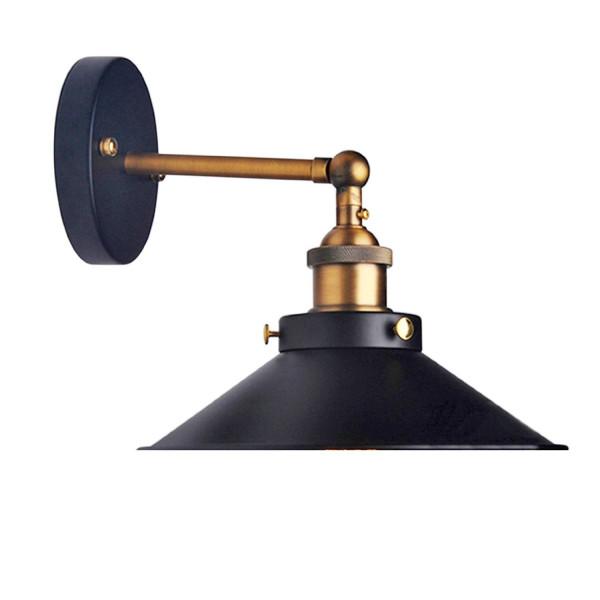 Lemonbest Modern Vintage Industrial Loft Metal Black Rustic Wall Sconce Light Retro Wall Lamp