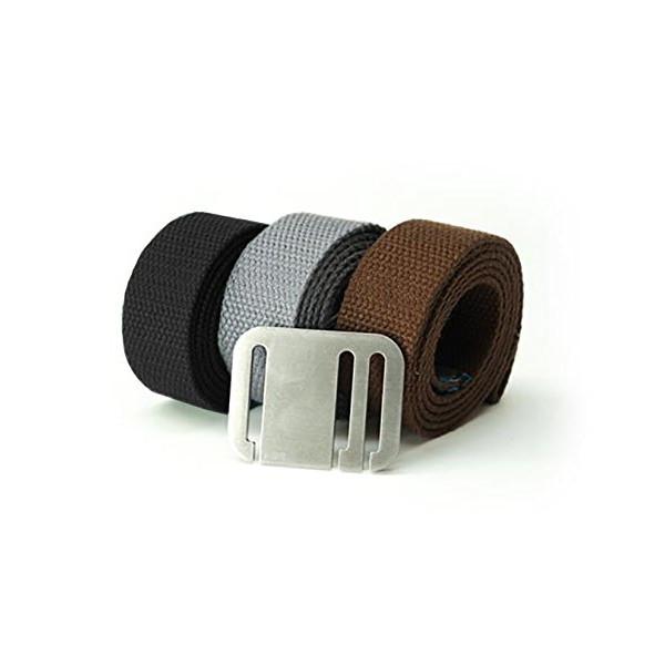 Booyah Belt Men's Medio 3 Belt Combo Medium Black-Steel-Brown