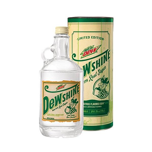 Mountain Dew DEWshine, 25 Fl Oz, Limited Edition Collectible Glass Jug
