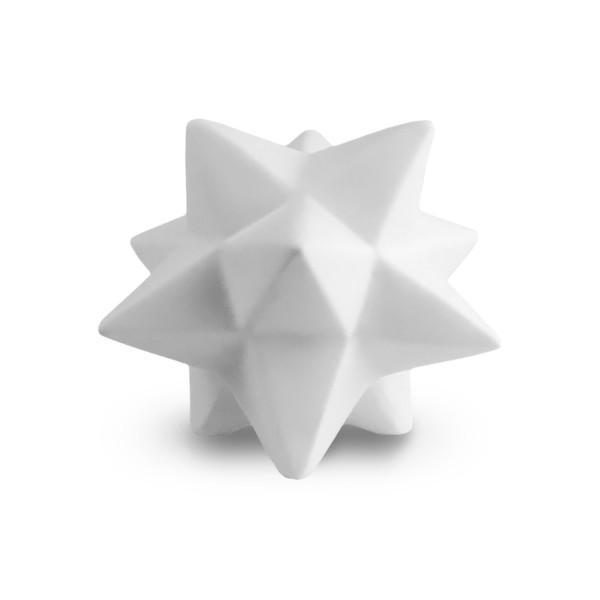 HomArt Ceramic Origami Star, Large, White