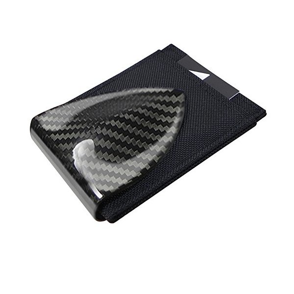 Billetus Men's Carbon Fiber Money Clip & RFID Blocking Wallet CFBN