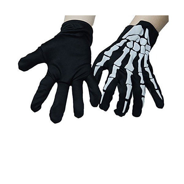 Seasofbeauty Unisex Halloween Costume Cosplay Skeleton Skull Ghost Gloves