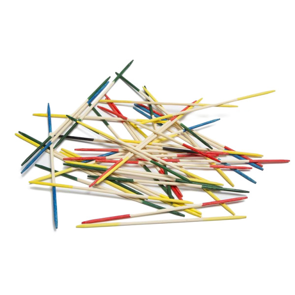 Ridley's Traditional Wooden Pick Up Sticks, Set of 41