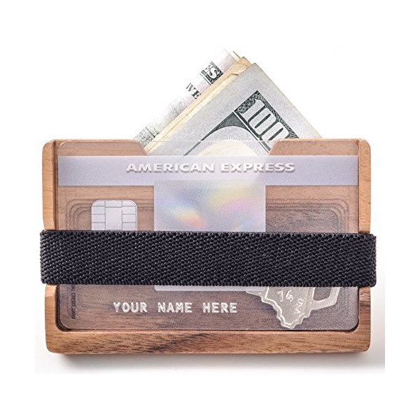 Wooden Wallet Money Clip : Minimalist
