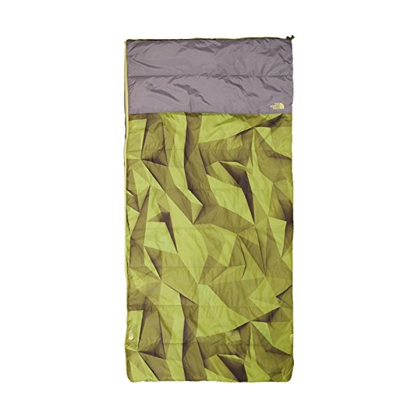 North Face Homestead Twin 40 4 Sleeping Bag Right Handed Green Low Poly Print