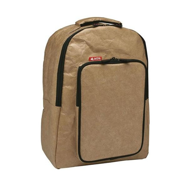 SKÜTR Backpack+tablet - Brown Tyvek - Backpack with Front Tablet Pocket