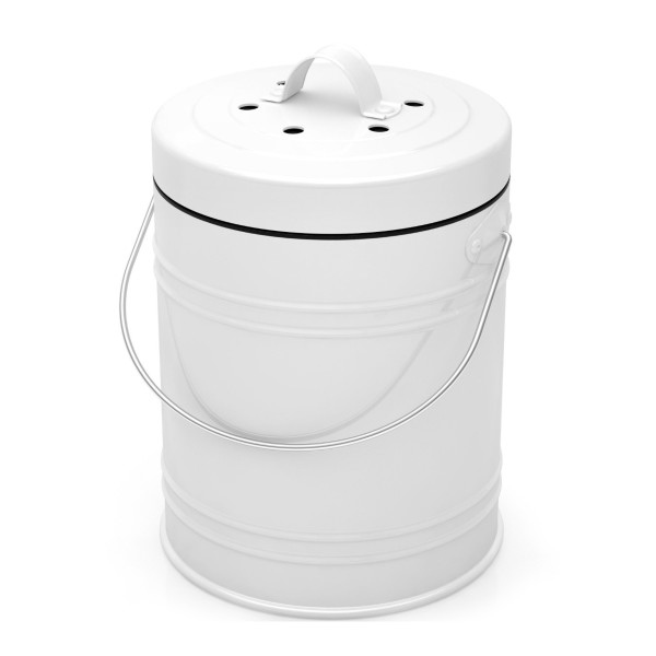 Kitchen Compost Bin with Charcoal Filters, 1.3 Gallon