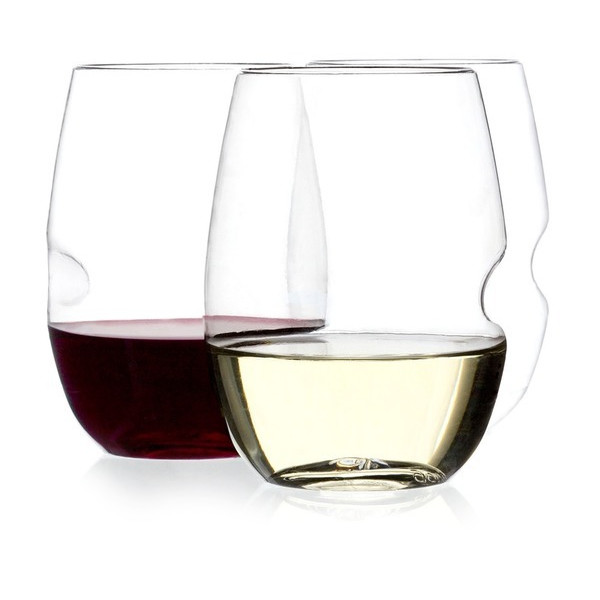 Govino Shatterproof Stemless Wine Glasses, 12 Pack
