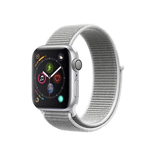 Apple Watch Series 4 (GPS, 40mm) - Silver Aluminium Case with Seashell Sport Loop