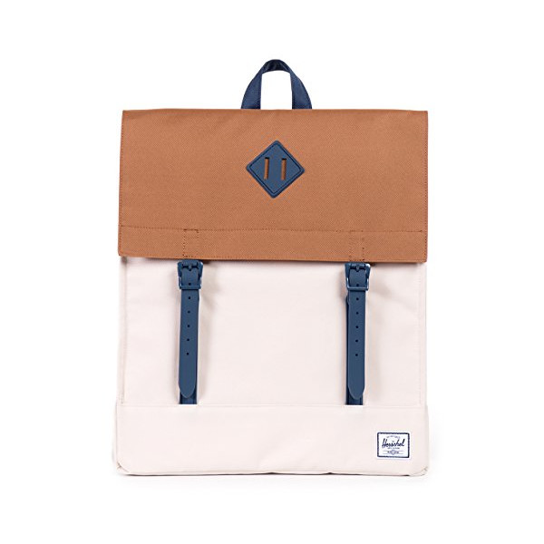 Herschel Supply Co. Survey Rubber Backpack, Caramel/Navy