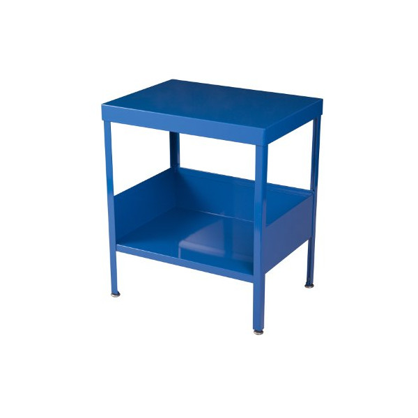 RMP Mid Century Industrial Nightstand / End Table (Blue)