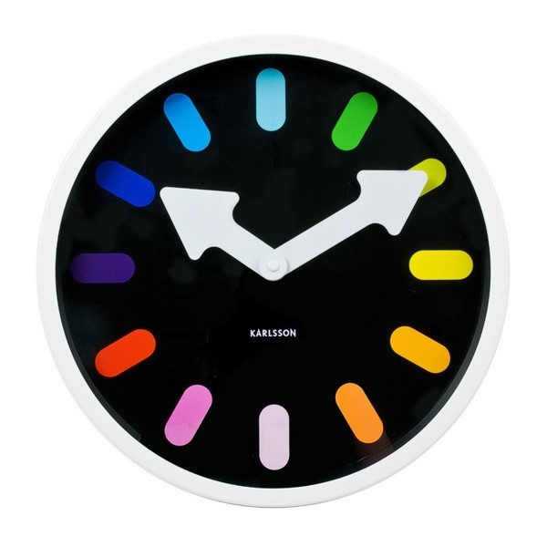 Present Time Karlsson Pictogram Rainbow Wall Clock