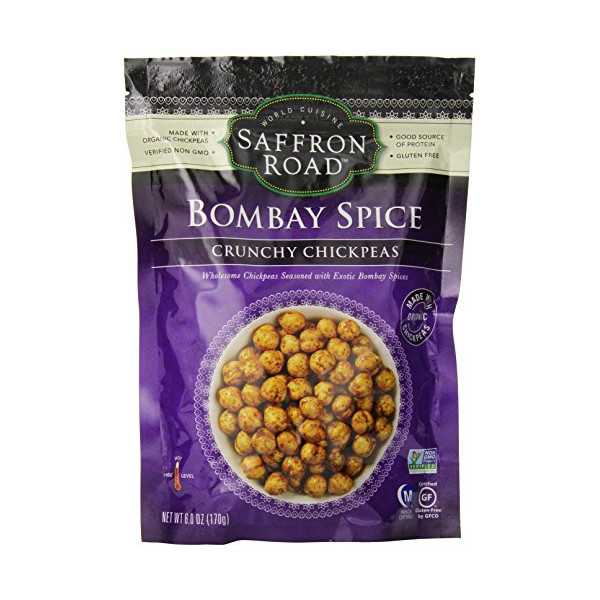 Saffron Road Crunchy Chickpeas, Bombay Spice, 6 Ounce