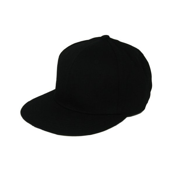 L.O.G.A. Plain Adjustable Snapback Hats Caps (Many Colors). Black