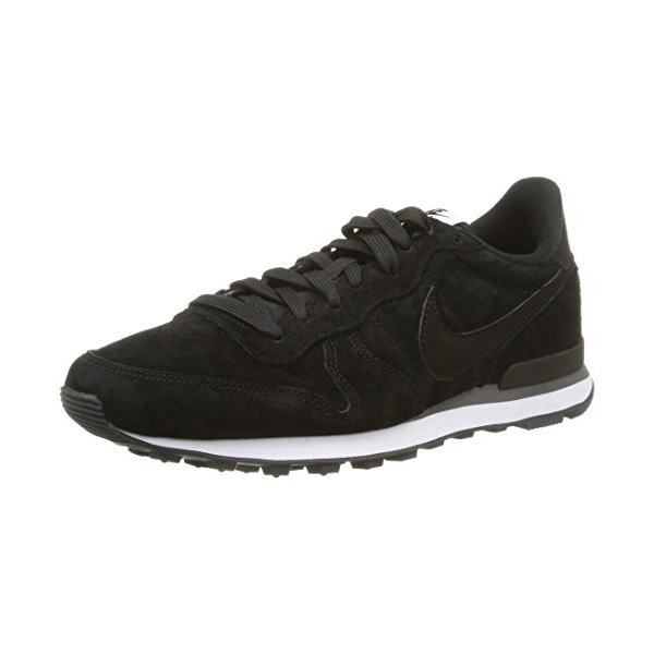 Nike Men's Internationalist Leather Black/Black/Dark Grey/White Casual Shoe 8 Men US